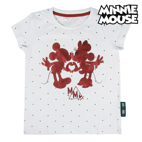 Barn T-shirt med kortärm Minnie Mouse Vit