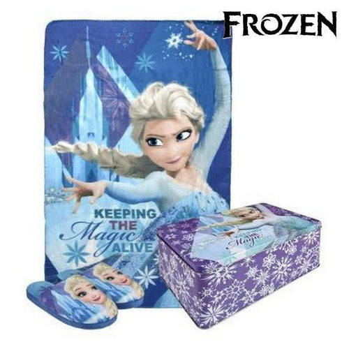 Metallbox med Filt och Tofflor Frozen (3 pcs)