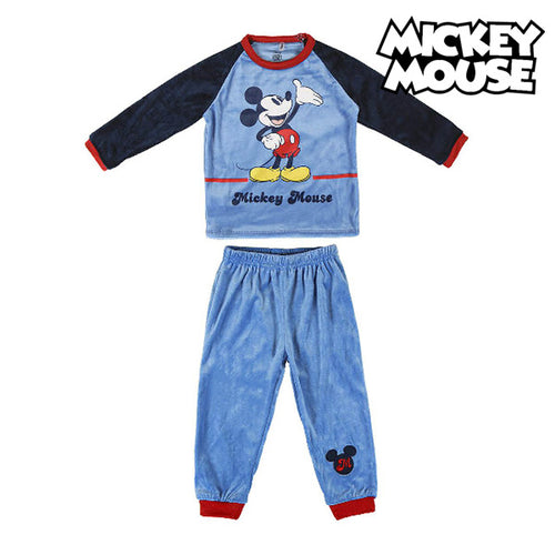 Pyjamas Barn Mickey Mouse 74721 Blå