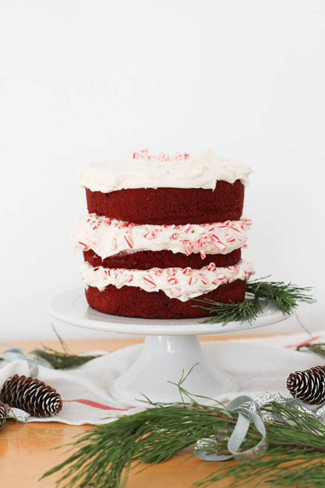 Candy cane wedding cake