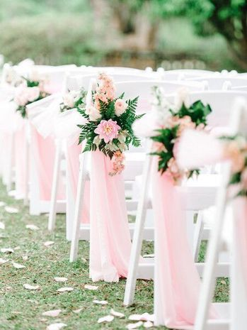 Rose Quartz aisle markers