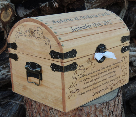 Wooden time capsule box