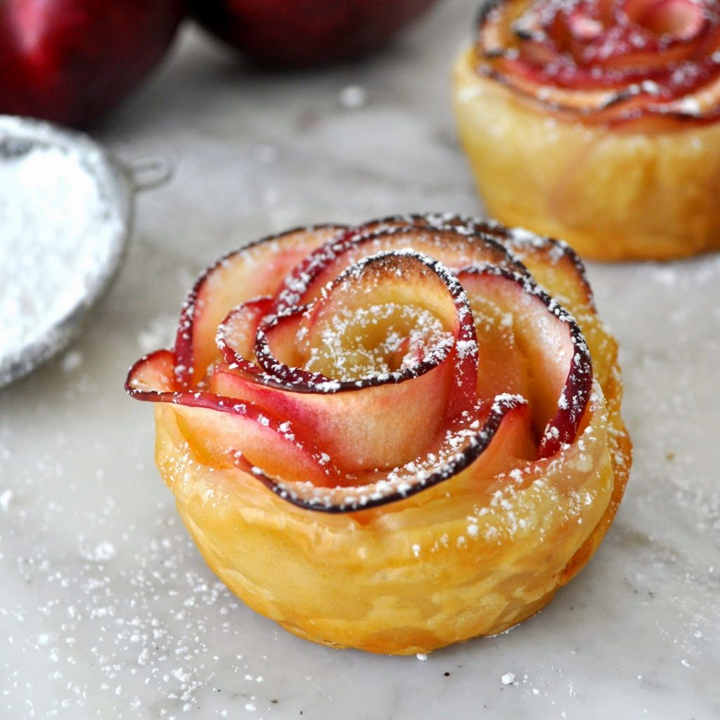 apples wrapped in puff pastry