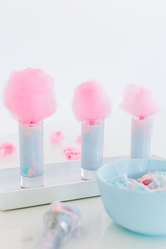 cotton-candy ice cream shots