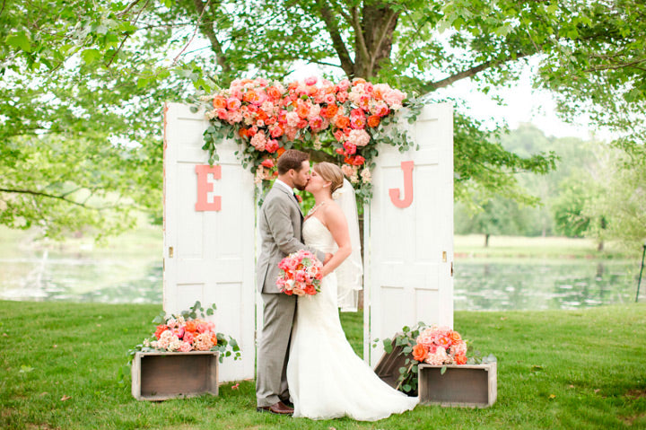 door wedding backdrop