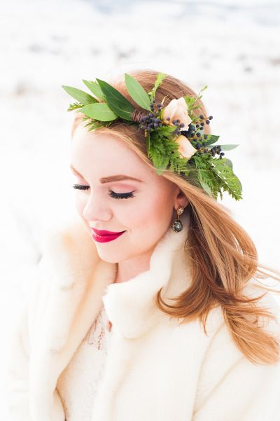 dramatic floral crowns