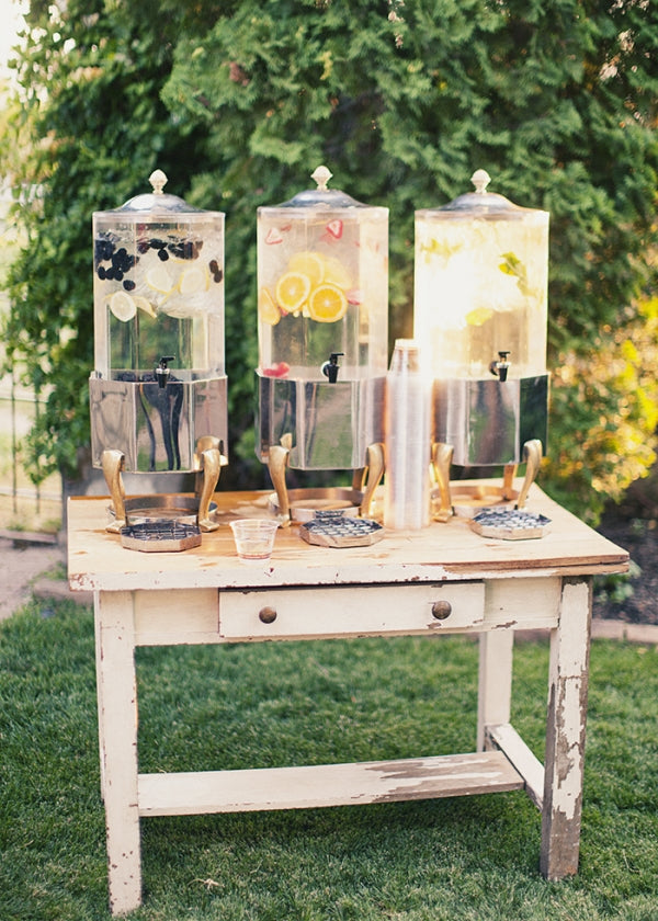 fruit-infused water bins
