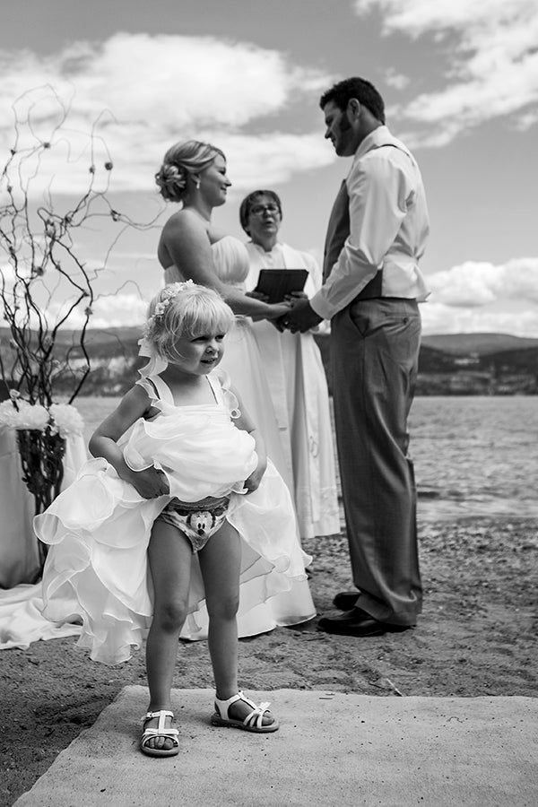 funny flower girl photo
