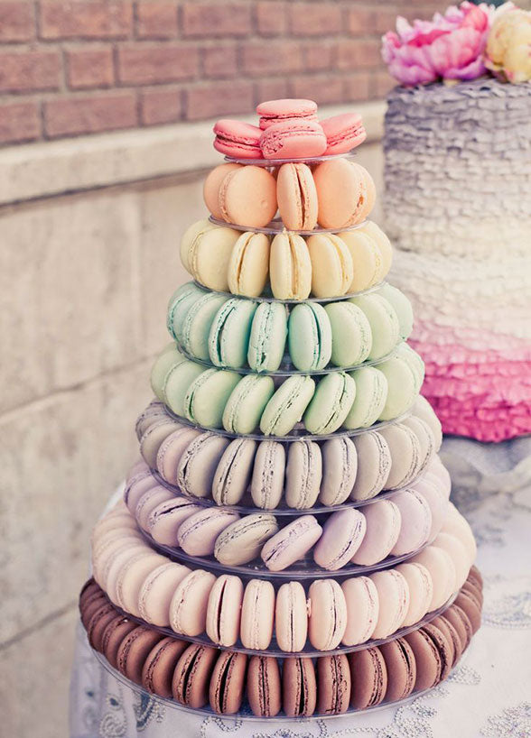 multi-tiered macaroon tower