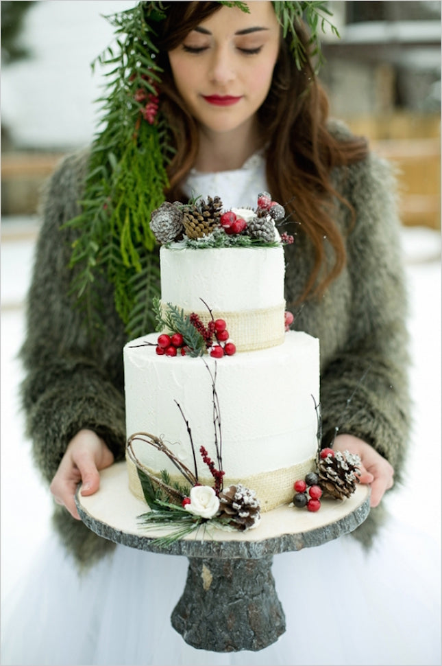 pinecone cake topper