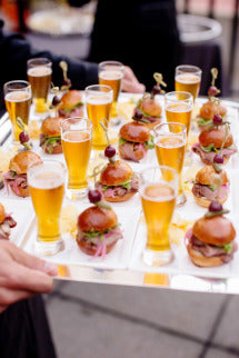 sliders and beer