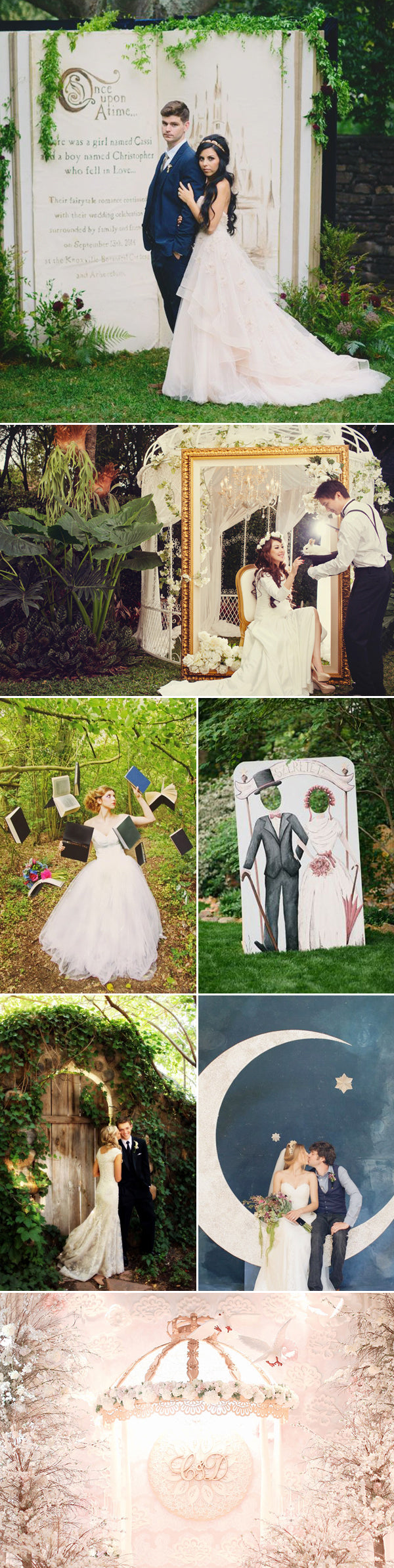 wedding fairytale backdrop idea
