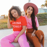Latina Power Tee in Red Pop