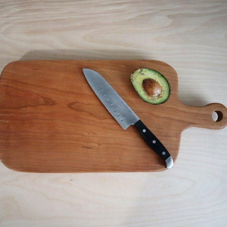 Cherry Cutting Board with Handle