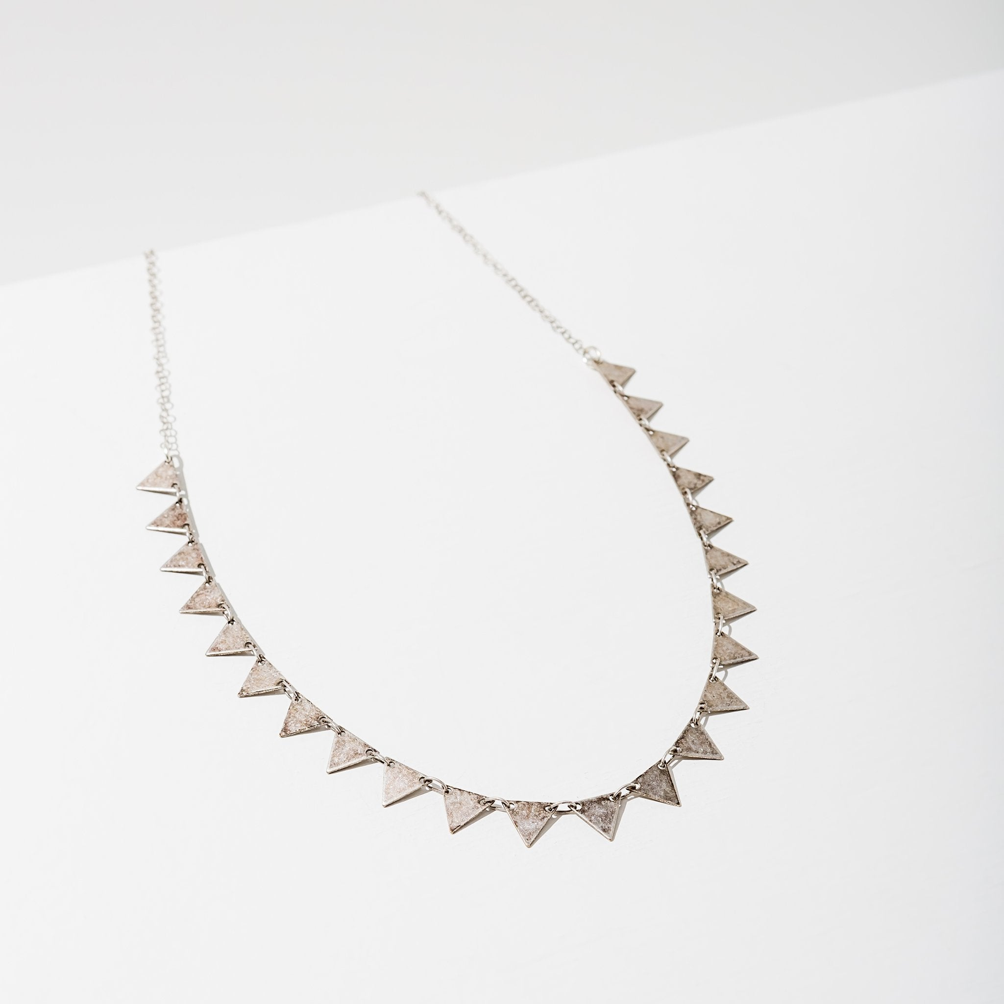 Candra Necklace in Triangles