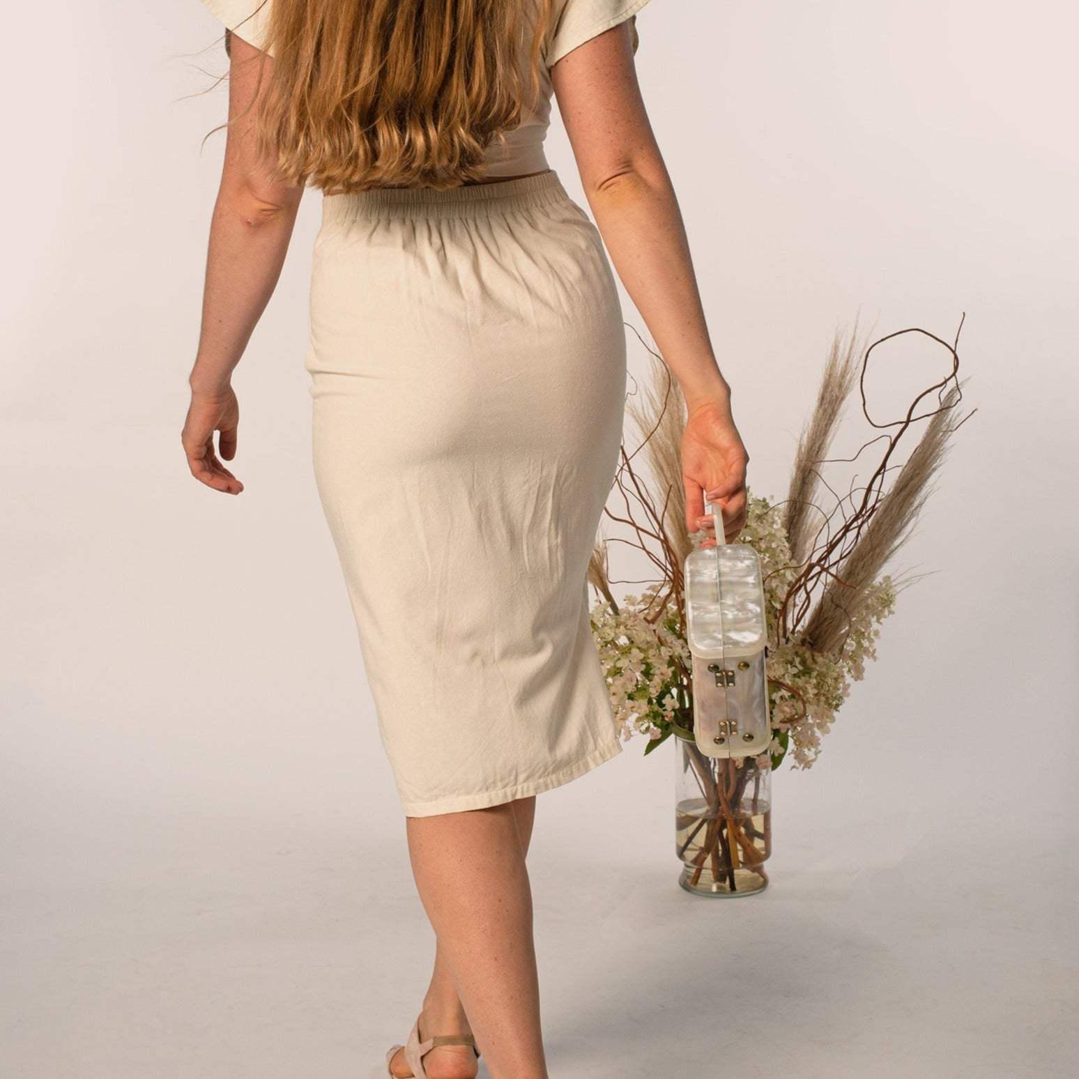 The A-Line Skirt: White (Made to Order)