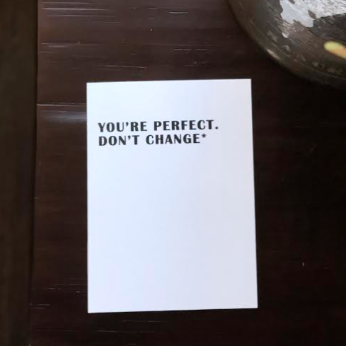 You're Perfect Card