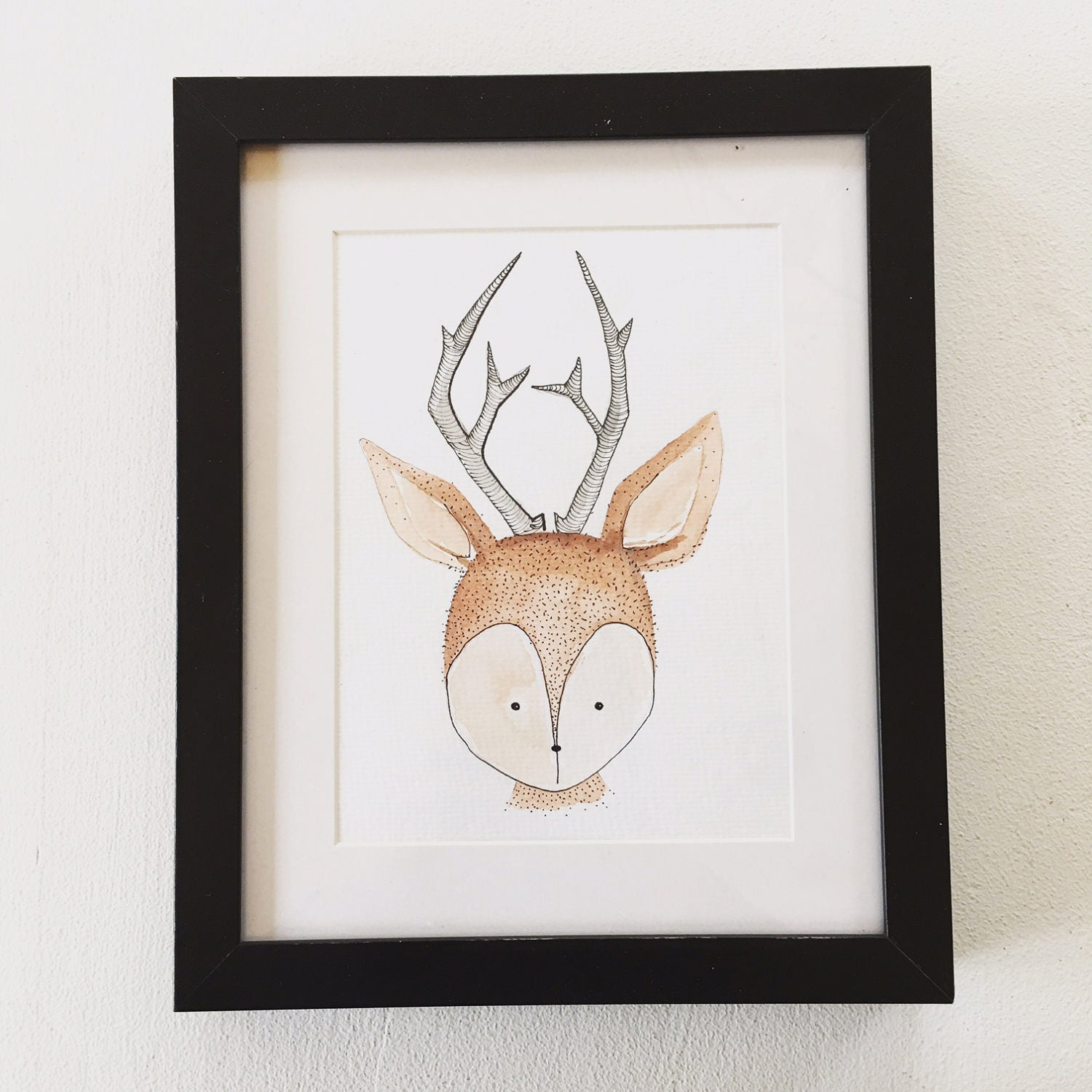 Hand-painted Woodland Deer