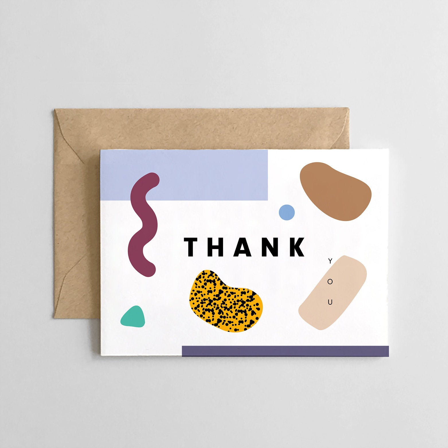 Thank You Boxed Set of 6 Cards: Abstract Design