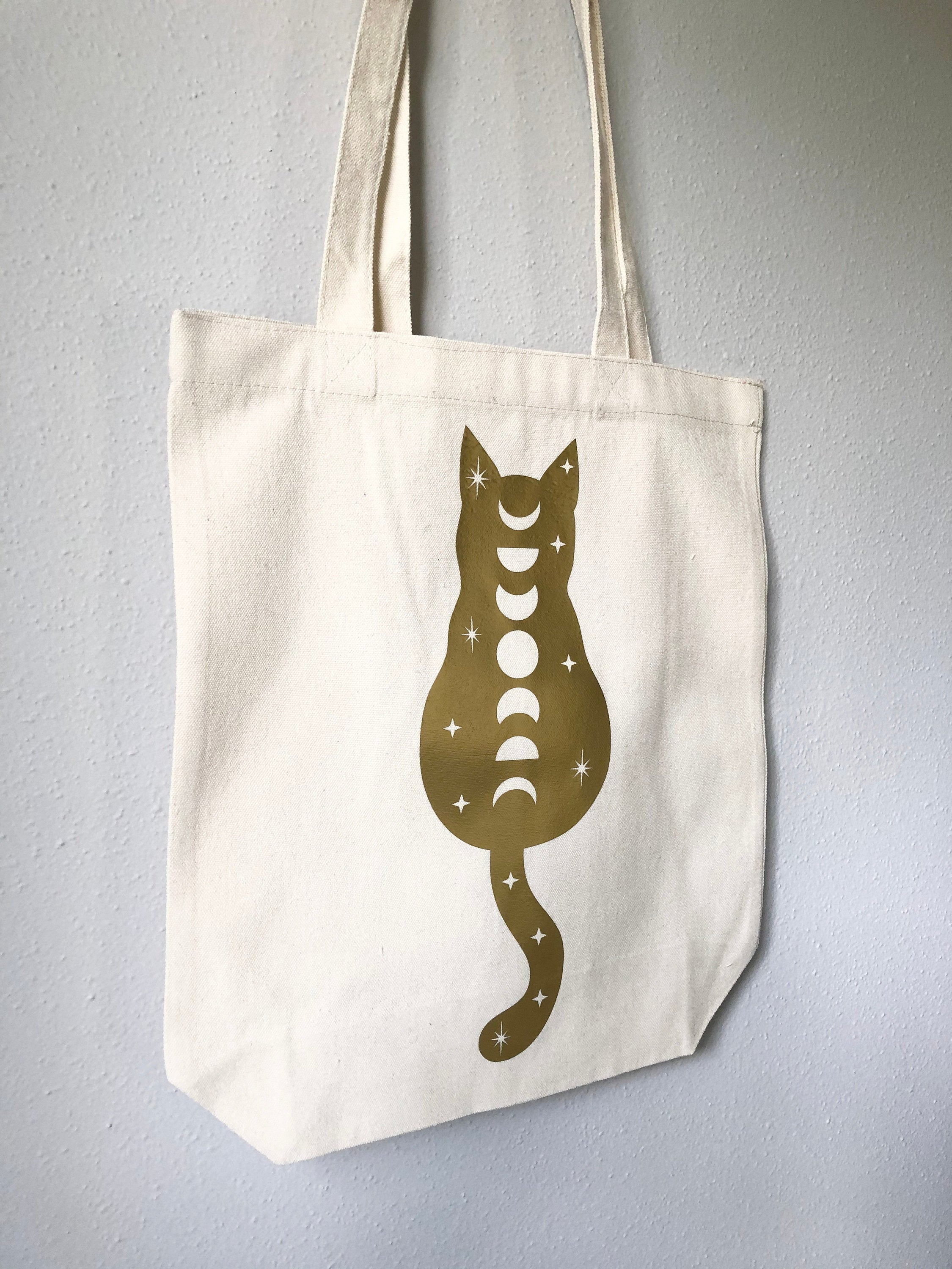 Cosmic Cat Tote Bag - White