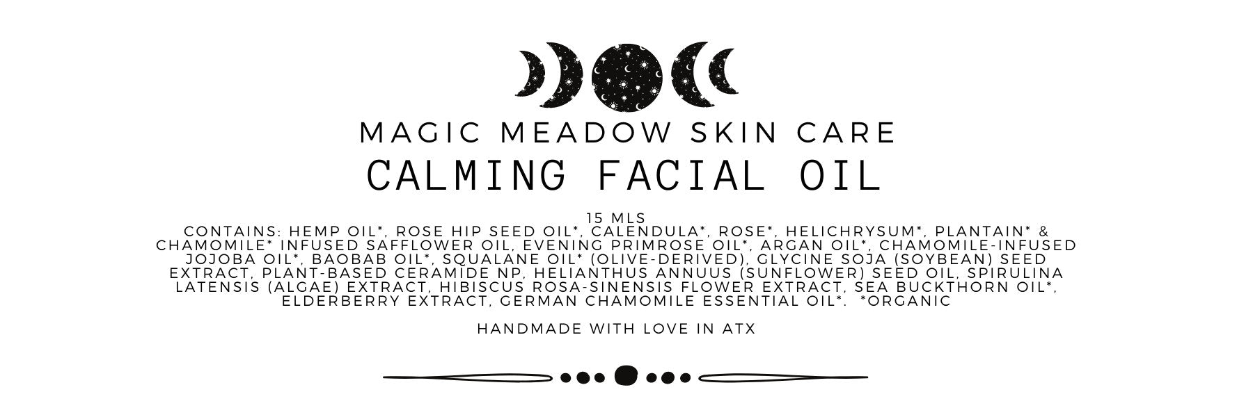Calming Herbal Facial Oil
