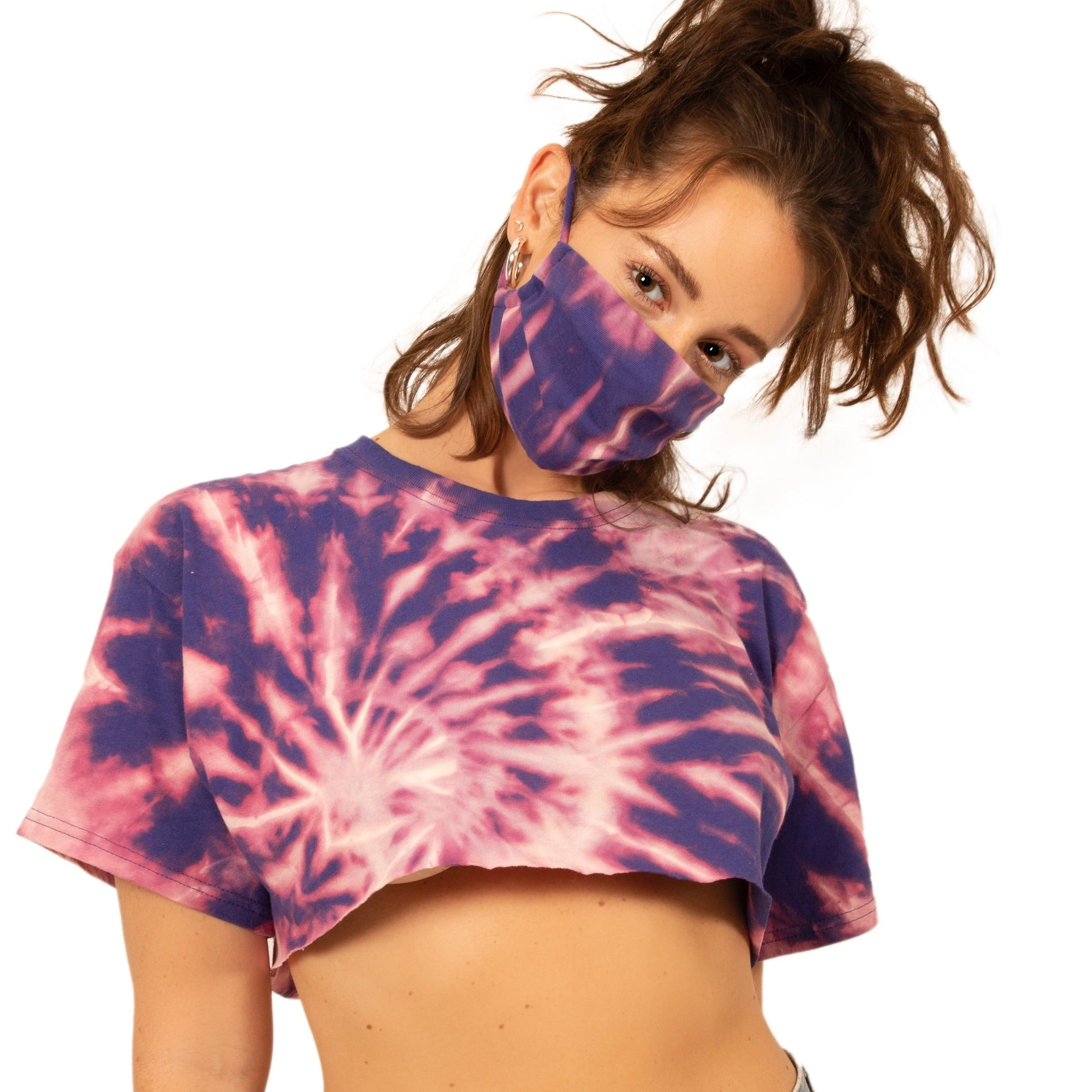 Cosmos Tie Dye Mask
