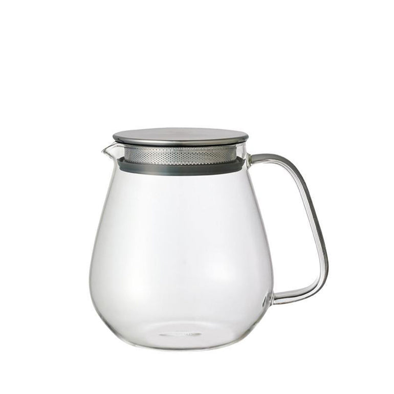 Kinto One Touch Glass TeaPot WH