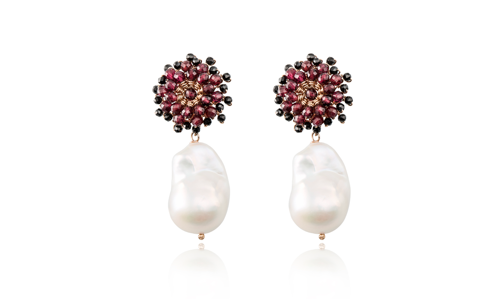 Love pearl earrings