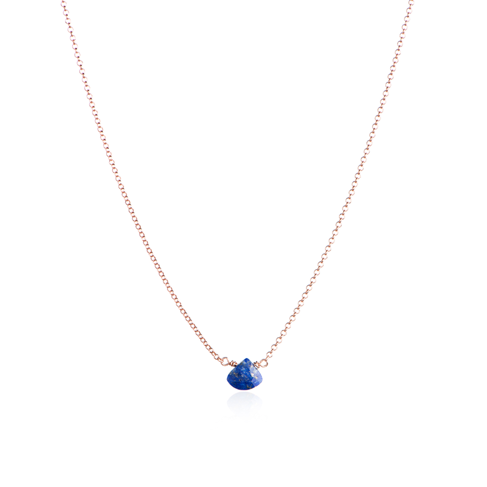 Waterfall around the neck necklace - lapis