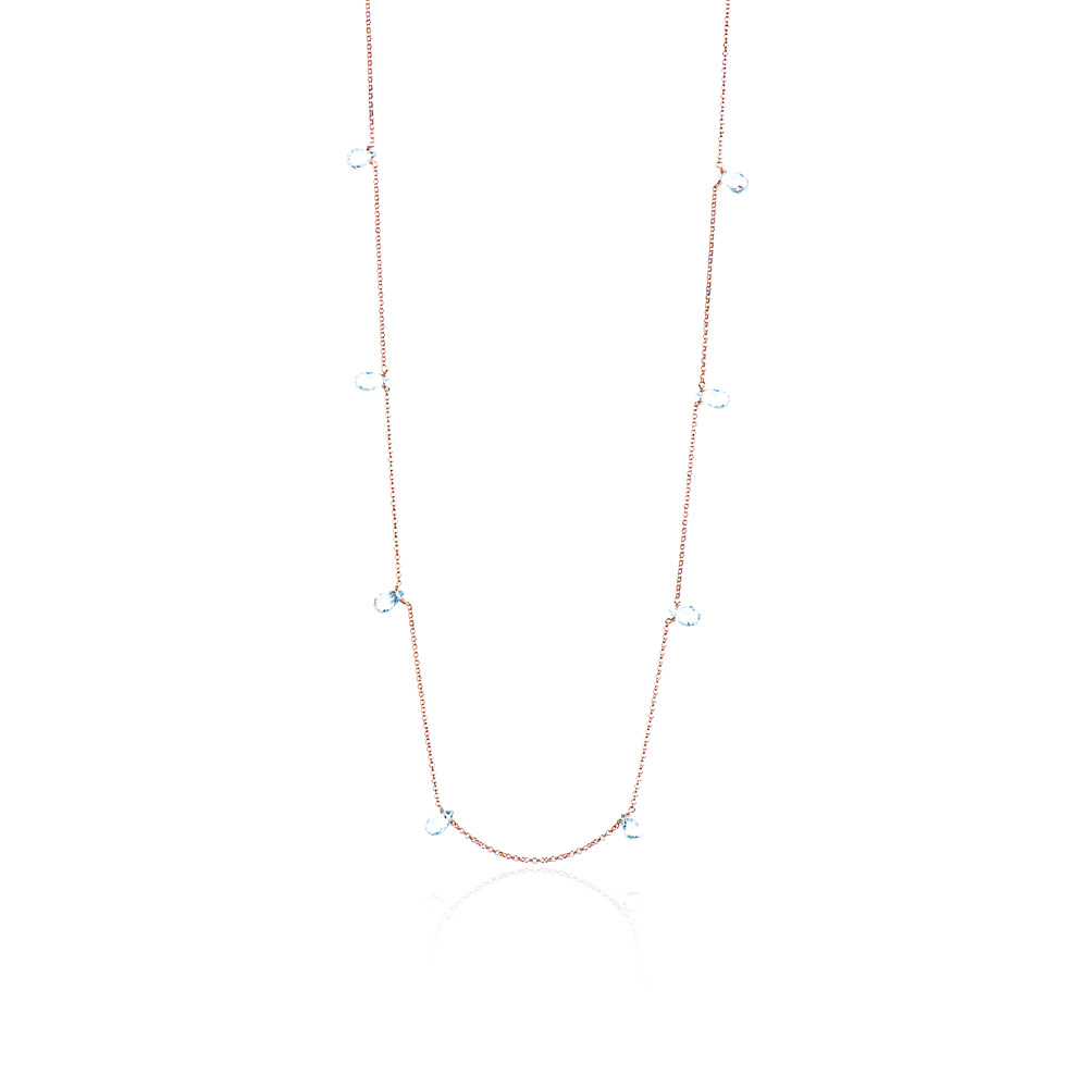 WATERFALL LONG NECKLACE TOPAZ