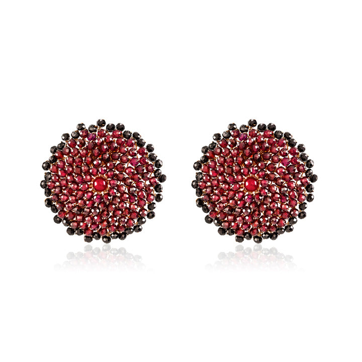 LOVE EARRINGS WITH SPINEL