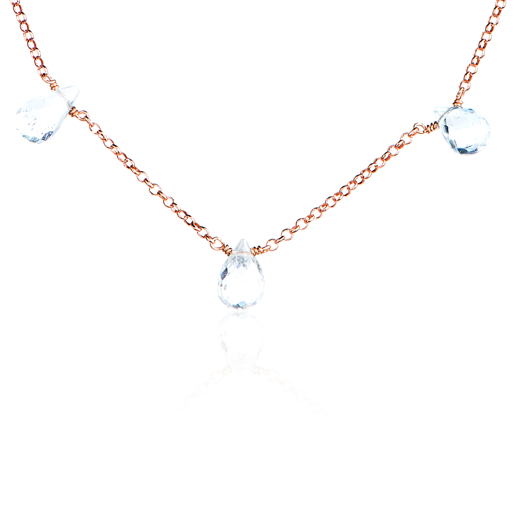 WATERFALL 5 GEMSTONES NECKLACE