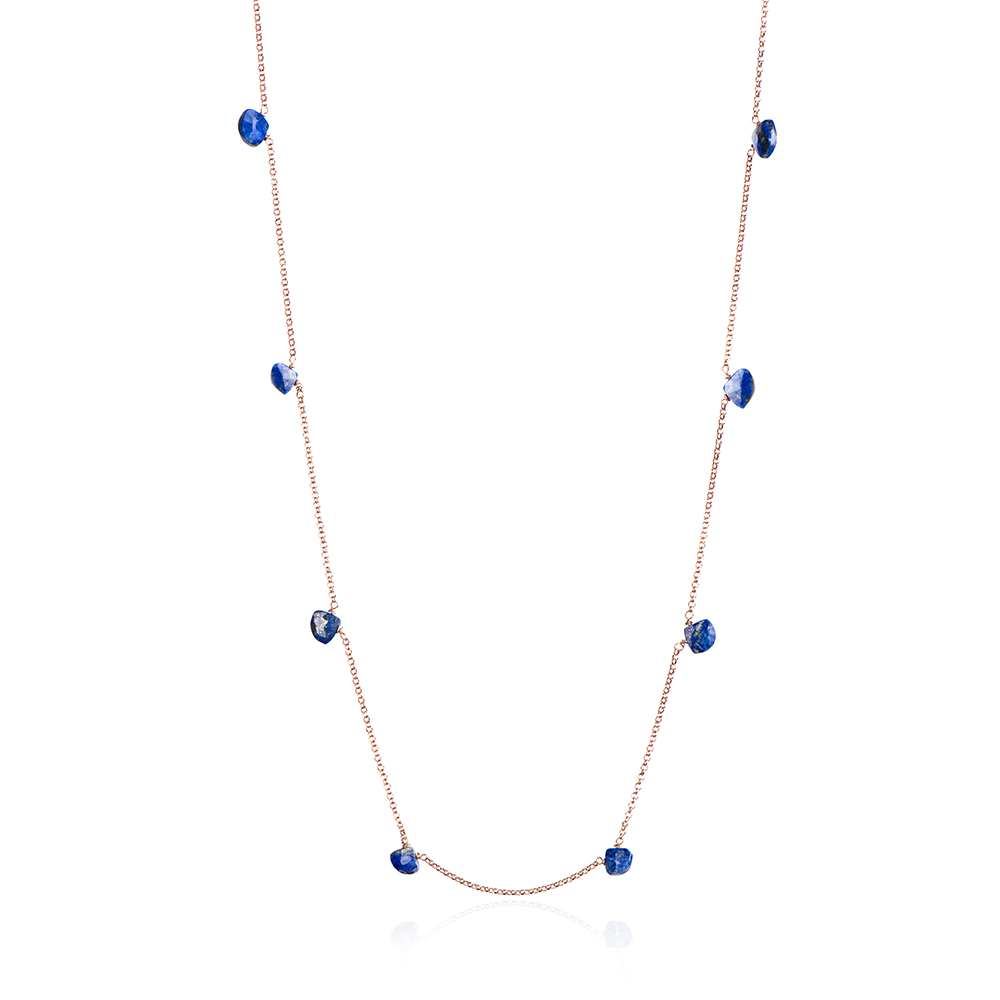 WATERFALL LONG NECKLACE LAPIS LAZULI