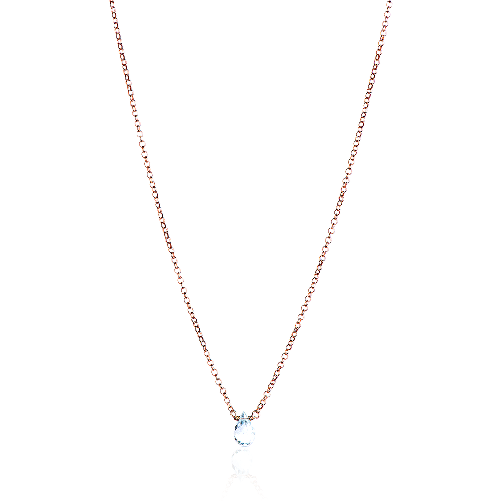 WATERFALL ONE GEM NECKLACE - TOPAZ
