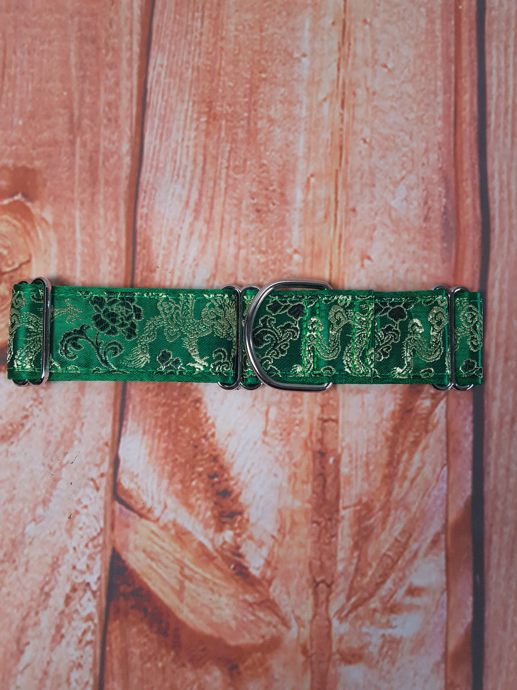 Green Baroque Dog Martingale