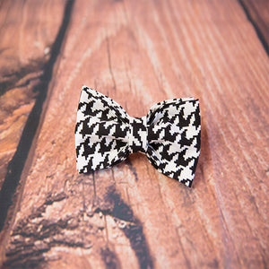"""Houndstooth"" Dog Bow Tie"