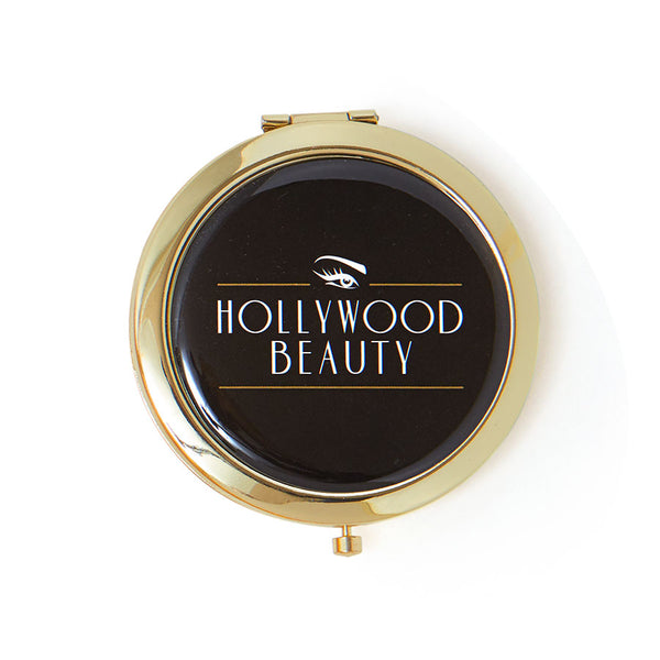 HOLLYWOOD BEAUTY ART DECO COMPACT MIRROR-hollywoodbrowzer