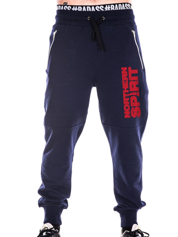 Navy Blue Pants, Red NS
