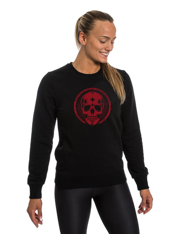 Black Sweatshirt Red Skull