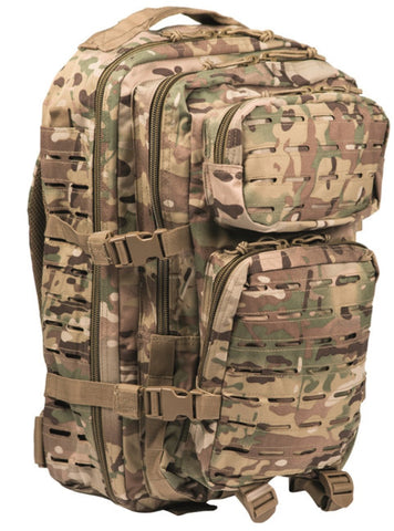 Us Multitarn Laser Cut Assault Backpack Lg