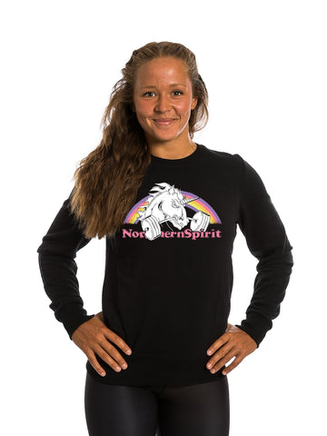 Black Sweatshirt Unicorn