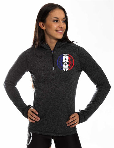 Warm Up Zip French Skull