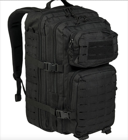 Us Black Laser Cut Assault Backpack Lg