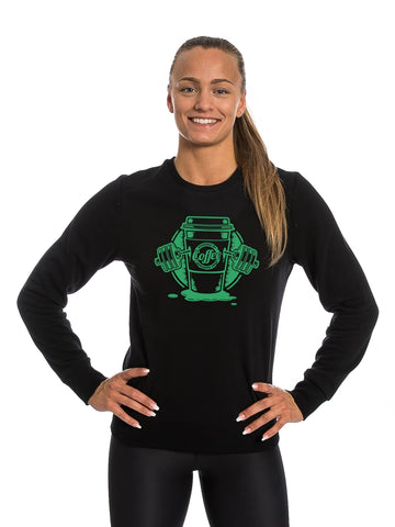 Black Sweatshirt Green Coffee