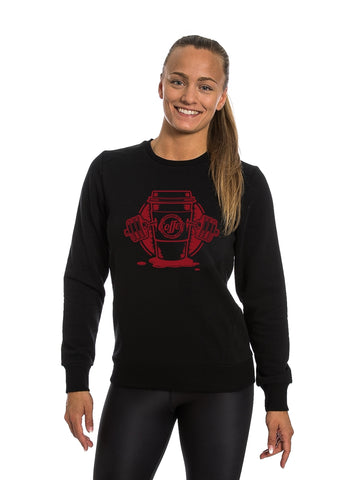 Black Sweatshirt Red Coffee