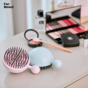 For Beaut Pure Me Detangling & Oil Removal Hair Brush - Aqua Mint Green