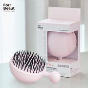 For Beaut Pure Me Detangling & Oil Removal Hair Brush - Cherry Blossom Pink