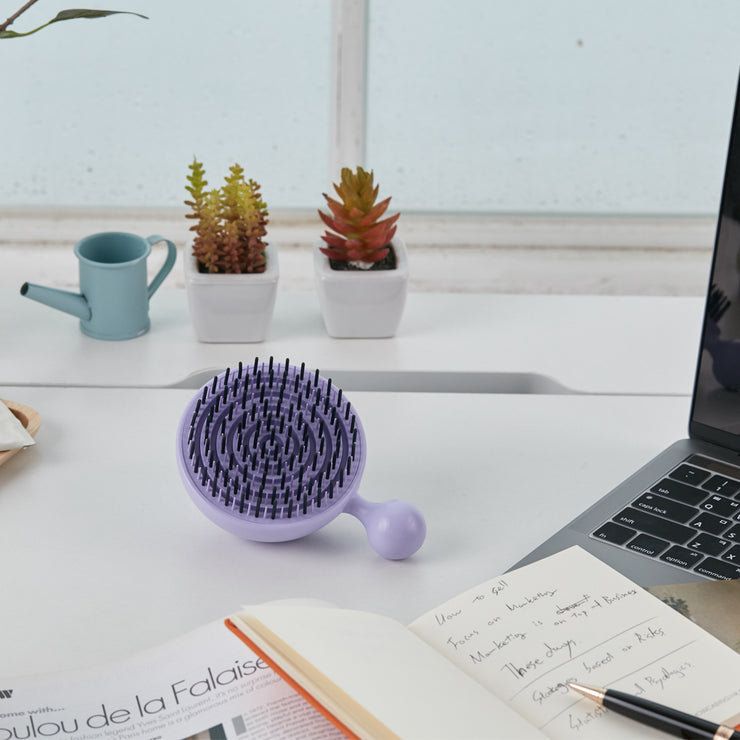 For Beaut Pure Me Detangling & Oil Removal Hair Brush - Serendipity Purple