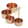 Copper Measuring Set with Brass Handles