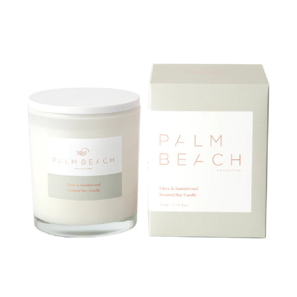 Palm Beach Standard Candle Clove & Sandalwood